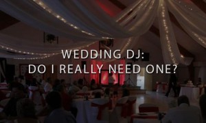 Maine Wedding Reception with Red DJ Setup