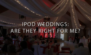 Red DJ Setup at Wedding Reception