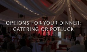 Wedding Reception with Red DJ Setup