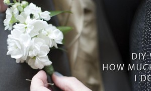 Boutonnière Placed on Groom