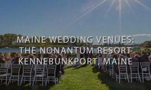 Nonantum Resort Ceremony overlooking ocean with a small Lighthouse on the side