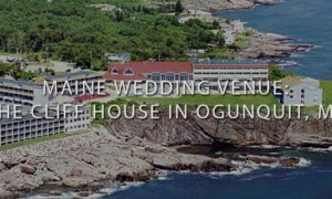 Birds Eye View of the Cliff Houes in Ogunquit Maine