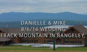 Wedding at Saddleback Mountain in Rangeley, Maine