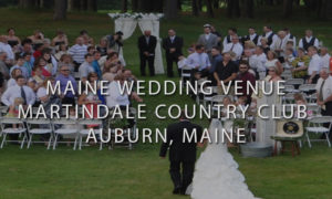 Father Walking Bride Down at an Outdoor Ceremony at Martindale Country Club