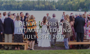 Outdoor Wedding Ceremony with Father Walking Bride Down Aisle