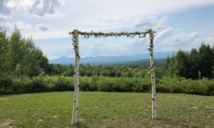 Do-It-Yourself Arbor Overlooking The Mountains
