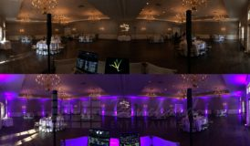 Uplighting Before and After