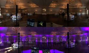 Uplighting Before & After at The Chocksett Inn