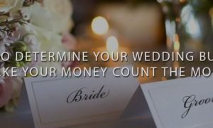 How-To-Determine-Your-Wedding-Budget Bride and Groom Name Cards on Decorated Table