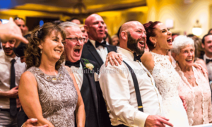 Bride & Groom With Guests | Samantha Kensell Photography
