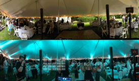 Maine DJ – Tent Uplighting | Bouchard Entertainment
