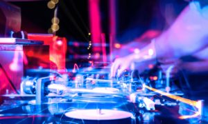 DJ Spinning Some Vinyl