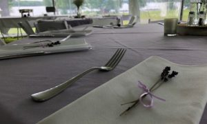 Do-It-Yourself Wedding Reception Table Under Tent
