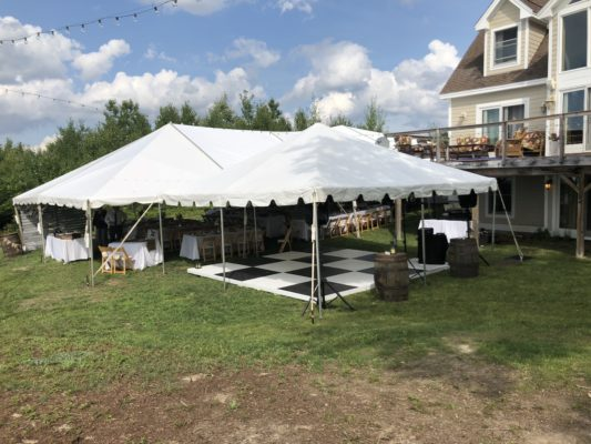 DIY Wedding Tent and Dance Floor