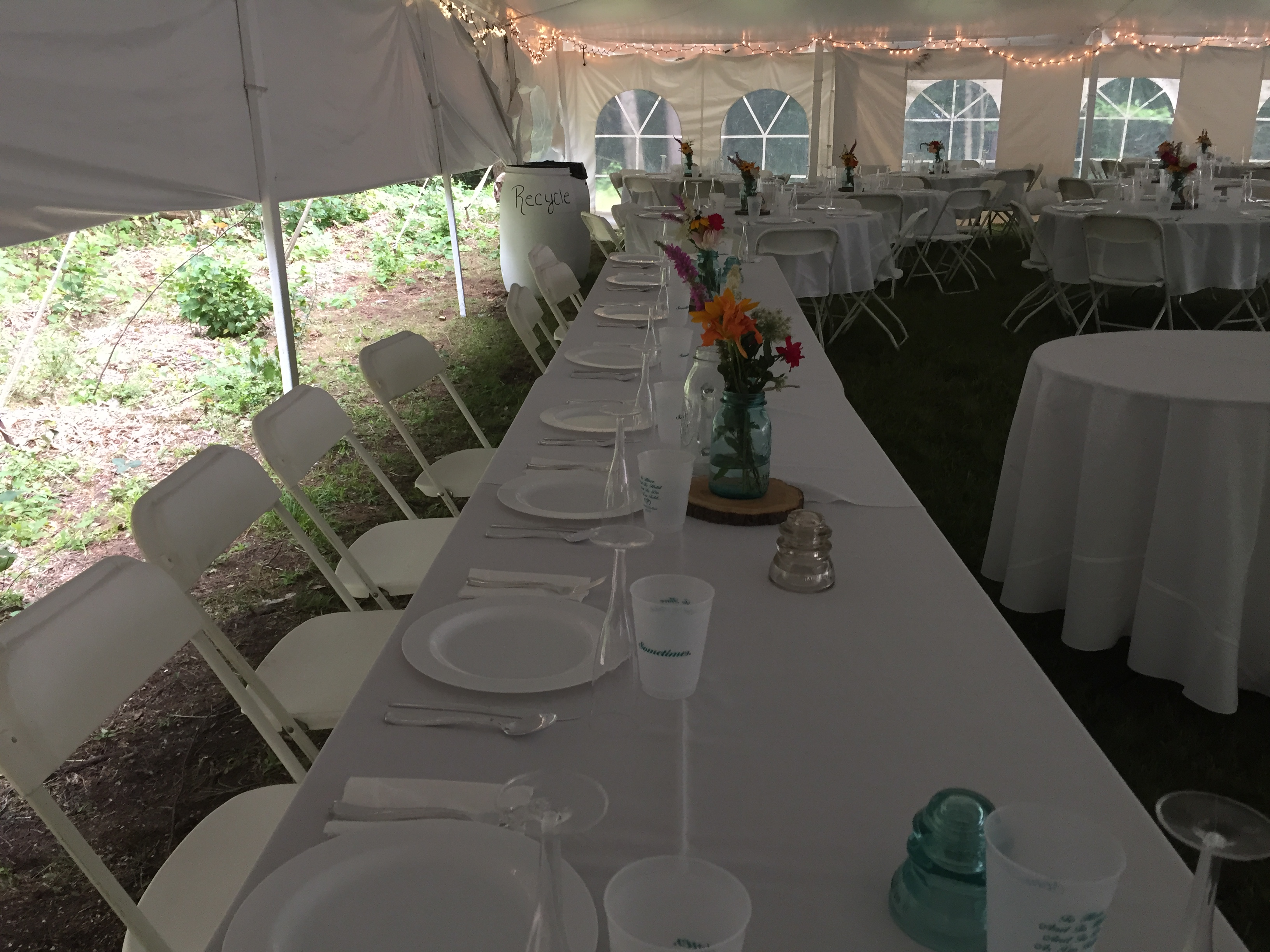 Do-It-Yourself Head Table under a Tent
