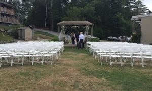 Empty Ceremony Chairs Waiting for Wedding Guests