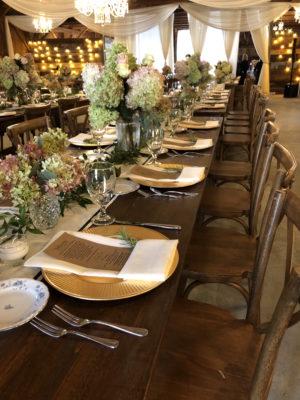 The Barn at Silver Oaks Wedding Dinner Tables