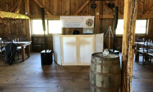 Bouchard Entertainment Maine DJ Setup at The Hitching Post of Maine