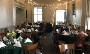 McKernan Center Dining Room Set with Circular Tables in South Portland, Maine