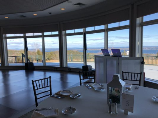Point Lookout Summit Wedding Reception Overlooking the Mountains and Water