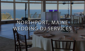 Wedding Reception Hall with DJ Setup in Background At Point Lookout Overlooking the Mountains and Ocean