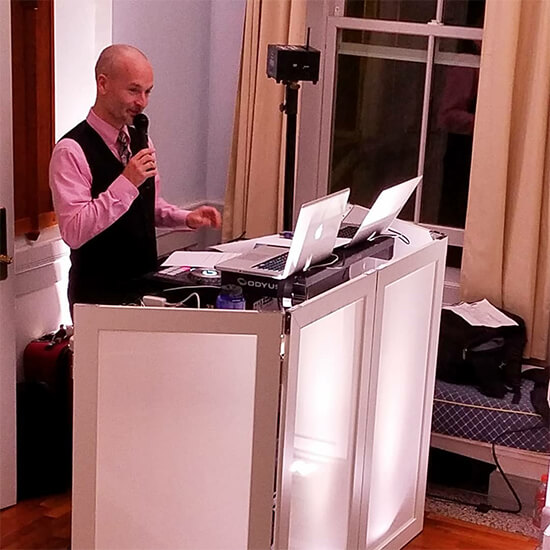 Master of Ceremonies at a corporate event