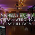 maine wedding venue clay hill farm with pink uplighting