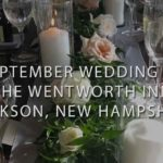 Rustic table setting at the wentworth inn jackson NH