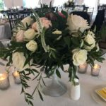 White and pink rose bouquet at the jackson inn in jackson new hampshire