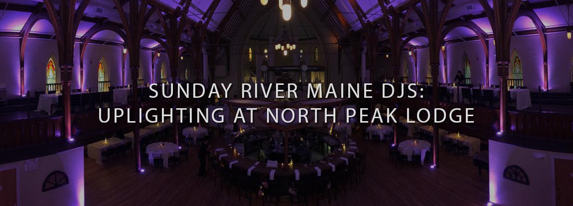 Portland, Maine DJs providing purple uplighting at Grace.