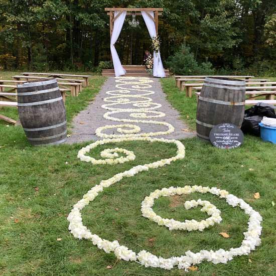 the barn at silver oaks estate ceremony