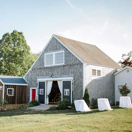 the barn at live well farm in harpswell maine